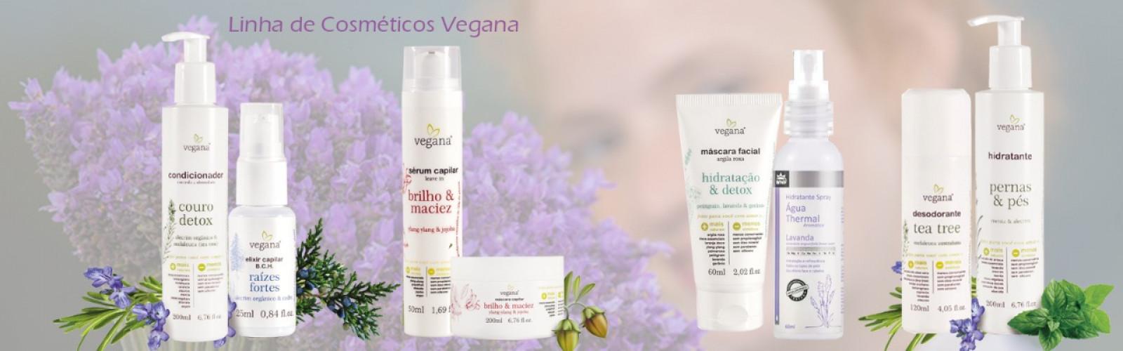 Linha de cosméticos vegana