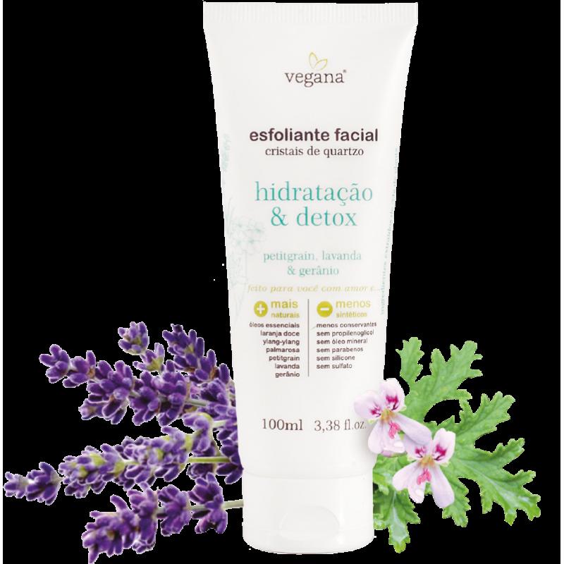 Esfoliante Facial Hidratação e Detox Vegana 100ml