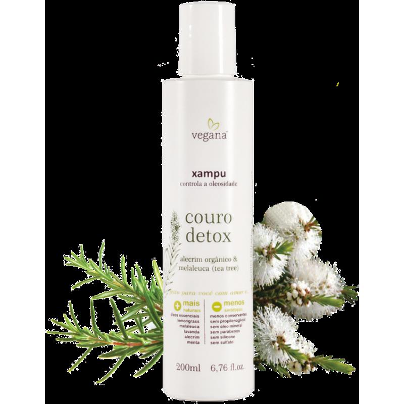Xampu Couro Detox Vegana 200ml