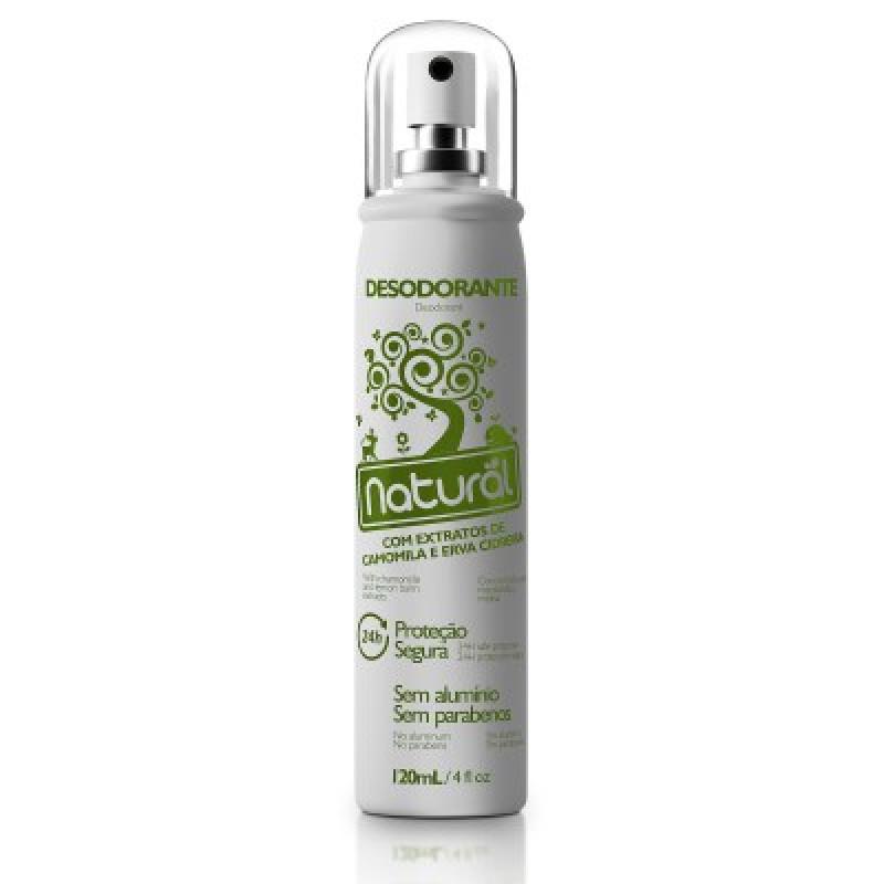 Desodorante Natural com Extratos de Camomila e Erva Cidreira - 120mL