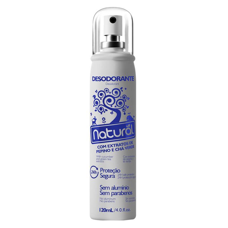 Desodorante Natural com Extratos de Pepino e Chá Verde - 120mL